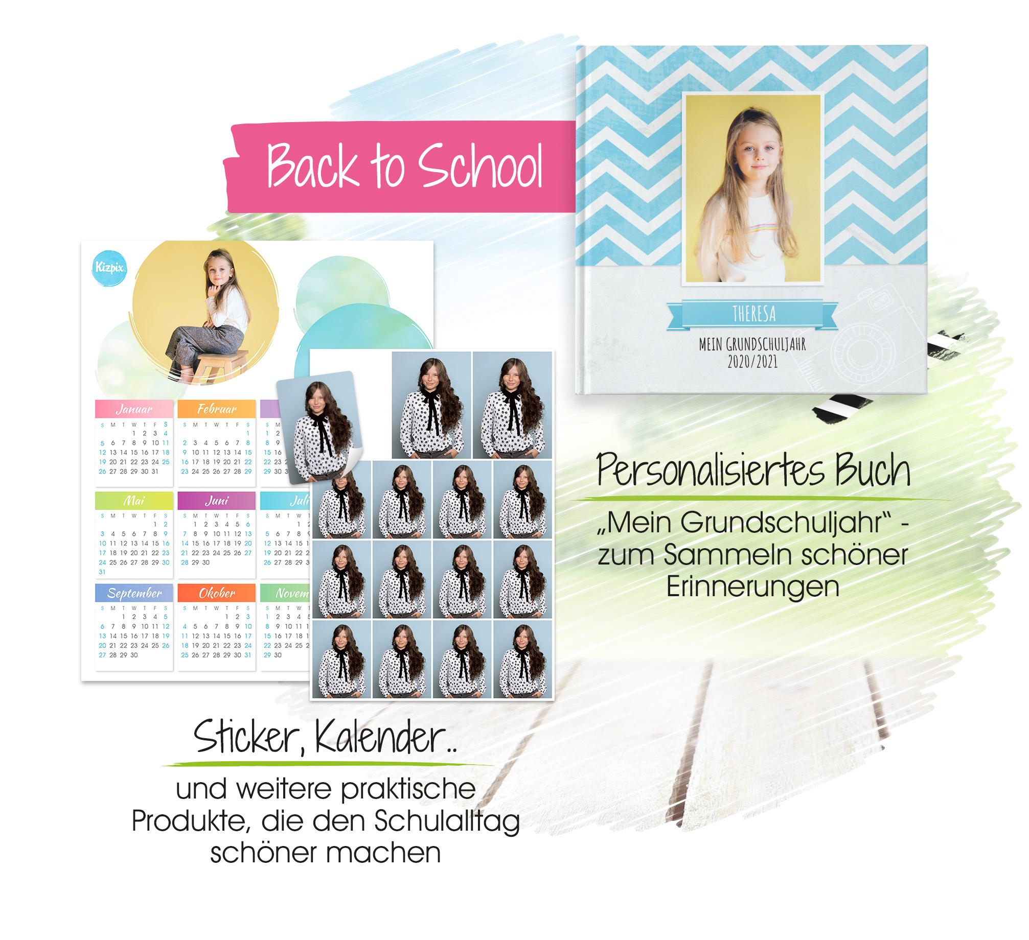 Kizpix.de Schulfotografie Specials: Personalisiertes Buch und Bewerbungsfotos